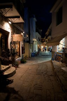 Skiathos by night, Greece