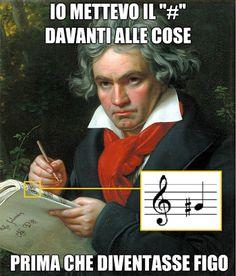 Albert Vataj: Elegjia në funeralin e Ludwig van Bethoven Music Memes, Music Quotes, Humor Musical, Funny Cute, Hilarious, Italian Humor, Deaf Culture, Pop Culture, Bullshit