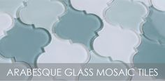 Arabesque Glass Mosaic Tiles | Rocky Point Tile - Online Glass Tile and Glass Mosaic Tile Store
