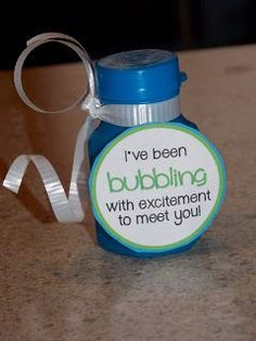I created this fun label to stick on bubbles for the first day or to welcome a new student! I purchased the bubbles at target. You can also ...