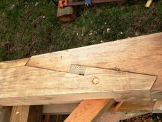 Timber-frame, scarf joint   Our