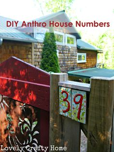 DIY Anthro Inspired House Numbers