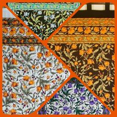 Four Beautiful colorful French floral Handmade ✋ cotton curtain from sweetus.com collection