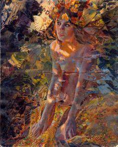 "Sergio Lopez ""Parhelia"" Acrylics on moleskine"