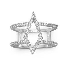 Kite Design CZ Ring