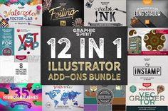 12 in 1 ILLUSTRATOR Bundle SALE by Graphic Spirit on @creativemarket