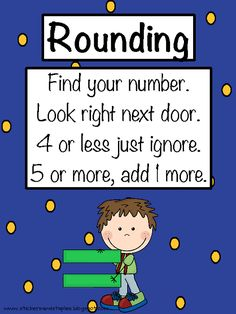 I don't remember if you all do rounding, but just in case :) rounding poem Math Strategies, Math Resources, Math Activities, Classroom Resources, Math Games, Classroom Ideas, Second Grade Math, First Grade Math, Fourth Grade