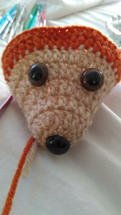 This amigurumi project is designed to hold your hooks and needles. This creation uses less than a skein of yarn. Two colors are used. You will need some polyfill or other stuffing to fill it up. As well as a yarn needle to close the bottom. Crochet Case, Knit Or Crochet, Cute Crochet, Irish Crochet, Crochet Toys, Crochet Animal Patterns, Stuffed Animal Patterns, Amigurumi Patterns, Knitting Projects