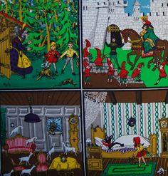 Grimm fairytale panel fabric (vintage)