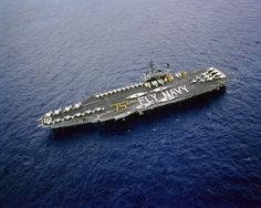Kitty Hawk Class USS America (CV-66) during the 75th Anniversary of Naval aviation in 1986