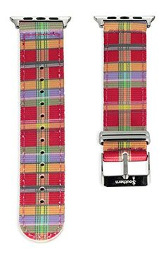 Apple Watch NATO Band - Madras Plaid Woven Nylon Band (42mm Gold). The original NATO strap designed for your smartwatch: Apple Watch, Android Wear & Pebble. Woven, double layered and heat sealed ballistic nylon - it comes with a Lifetime Warranty. Patent Pending design using quick-release pins.