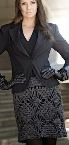 Patrón para las faldas de ganchillo