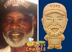 Retirement Party - Fun Retirement Party Ideas - USPS Retiree - Post Office - Beard - Custom Cookies - #Retirement #Party #Ideas