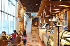 Inside one of the many cafes at Star Park Korea hub of the Asia film industry