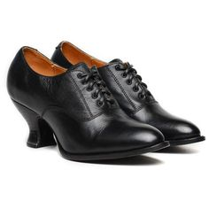 Oak Tree Farms Jane Black Full Leather Lace Up Victorian Shoes - Retro, Period and Costume - Womens' Shoes & Boots Edwardian Shoes, Victorian Shoes, Vintage Style Shoes, Vintage Heels, Farm Women, Wedding Boots, Black Gloves, Cowgirl Boots, Leather And Lace