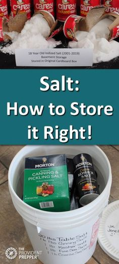 Salt should be a basic staple in every prepper's pantry. Today salt is inexpensive and easy to obtain. Tomorrow this valuable resource may become a… Emergency Preparedness Food, Prepper Food, Emergency Food Storage, Emergency Preparation, Survival Food, Survival Prepping, Survival Skills, Survival Quotes, Homestead Survival