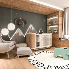Baby Room Inspiration Illuminated Mountains The post Baby Room Inspiration Illuminated Mountains appeared first on kinderzimmer. Baby Bedroom, Baby Boy Rooms, Baby Boy Nurseries, Baby Room Decor, Kids Bedroom, Babies Nursery, Baby Nursery Ideas For Boy, Nursery Room Ideas, Nursery Decor