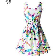 Sexy Women multi color Chiffon Dress Sleeveless Sundress Beach Floral Tank Mini Dresses Vestido