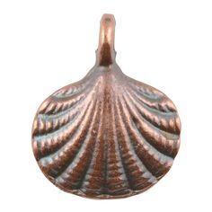 Casting Charm-15x18mm Clam Shell-Antique Copper-Quantity 1