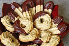 Almond biscuit- Mandel – Spritzgebäck Almond biscuits, a nice recipe from the category biscuits & cookies. German Christmas Cookies, German Cookies, Xmas Cookies, Holiday Baking, Christmas Baking, Easy Cookie Recipes, Baking Recipes, No Bake Desserts, Dessert Recipes