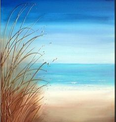 ideas painting canvas ideas ocean beach scenes for 2019 Easy Canvas Painting, Simple Acrylic Paintings, Acrylic Art, Canvas Art, Canvas Ideas, Beach Canvas Paintings, Ocean Paintings, Water Color Painting Easy, Easy Painting For Kids