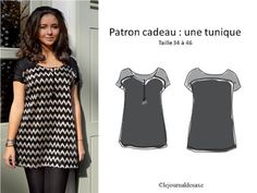 16 PATRON GRATUIT TOP : Tee Shirt, Tunique, blouse .... Bettinael.Passion.Couture.Made in france