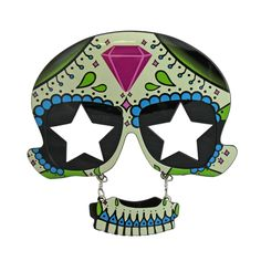 This pair of Day of the Dead glasses with star lenses will be a great addition to your party outfit. Day Of The Dead, Costume Accessories, Fancy Dress, Lenses, Fursuit, Costumes, Stars, Outfit, Party