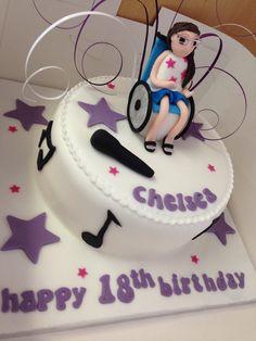 Wheelchair music inspired cake