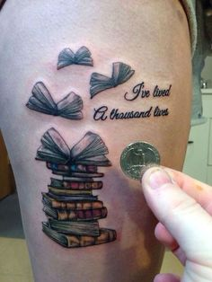 44 Adorable Tattoo Designs for Book Lovers: