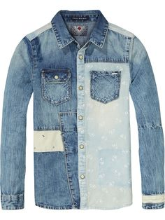 Denim Patchwork Shirt