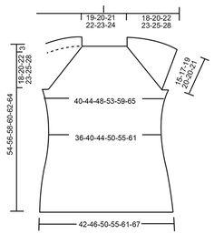 Petronella Top / DROPS 175-32 - Von oben nach unten gestricktes Top mit Raglanschrägung und Lochmuster in DROPS Muskat. Größe S - XXXL. - Free pattern by DROPS Design