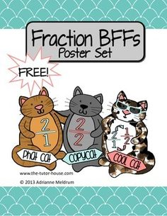 I bet you are tired of telling your students over and over about fractions.  It doesn't seem to matter what grade,  (ah-hem--high schoolers) they still think you are performing some magic trick.  Get them down once and for all with these Fraction BFFs Posters.  They come to the rescue in any fraction problem, even with variables!