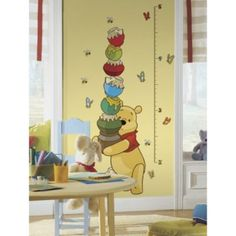 RoomMates Winnie the Pooh Peel & Stick Growth Chart - BedBathandBeyond.ca