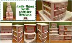 Jungle Theme Sterlite Container Templates!  Do you like to organize your classroom with clear Sterlite containers of different sizes, but hate that everyone can see inside when it is not always the neatest? The Organized Classroom has solved your problem with these super easy to customize and print templates for the drawers! $