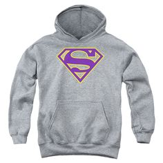 Superman: Purple & Gold Shield Youth Hoodie