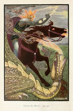 Frank C. Papé (1878-1972), two colour illustrations for Richard Wilson, The Russian Story Book (London: Macmillan, 1916)
