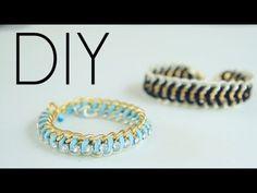bracelete com duas correntes e strass