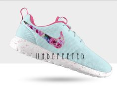 Pastel Floral Nike Roshe by UndeFeeted on Etsy, $150.00