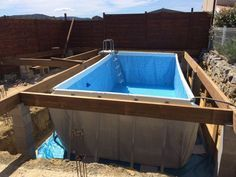 Relaterad bild Above Ground Pool Landscaping, Above Ground Pool Decks, Small Backyard Pools, Backyard Pool Designs, Small Pools, In Ground Pools, Oberirdischer Pool, Intex Pool, Diy Pool