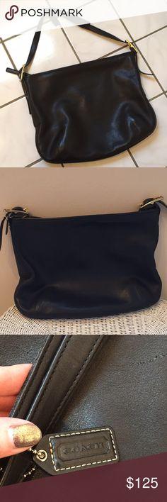 Coach Bag Coach Leather Shoulder bag 15w and 12 L . Worn a few times. Coach Bags Shoulder Bags