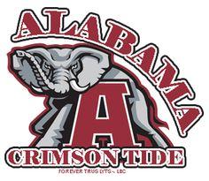 AlabamaCrimsonTide Alabama Crimson Tide Logo, Crimson Tide Football, Alabama Football, Football Team, Alabama Tide, Alabama Baby, Alabama Room, Football Fever, Football Quotes