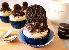 Cookies and Cream Cupcakes - from scratch!
