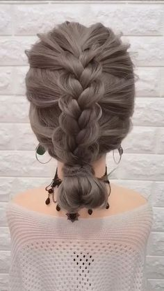 Easy Hairstyles For Long Hair, Braids For Long Hair, Girl Hairstyles, Wedding Hairstyles, Step Hairstyle, Hairstyle Tutorials, Party Hairstyles, Simple Hairstyle Video, Braided Hairstyles Medium Hair