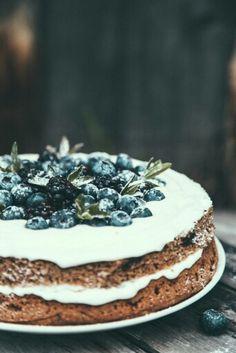 Тортик с черникой.