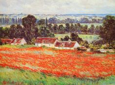 Field of Poppies Art by Claude Monet at AllPosters.com