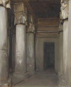 John Singer Sargent (American, 1856-1925), The Temple of Denderah, 1891. Oil on canvas, 30 ½ x 25 ¼ in.