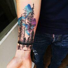 40 Kreative Wald Tattoo Designs und Ideen diy tattoo - diy tattoo images - diy tattoo ideas - diy be Trendy Tattoos, New Tattoos, Body Art Tattoos, Tattoos For Guys, Tattoos For Women, Tatoos, Tree Tattoos On Arm, Xoil Tattoos, Tree Tattoo Back