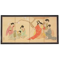 Oriental Furniture Japanese Asian Oriental Geisha Women, 6-Feet Ladies in Afternoon Chinese Art Wall Screen, 36 by 72-Inch by ORIENTAL FURNITURE. $144.00. Browse our extraordinary selection of asian art and 2000+ asian home décor and unique gifts. Beautiful handpainted watercolors and ink on handcrafted silk screens, sung, ming, sumi wall art. 6 feet long by 3 feet tall, remakable work of hand painted art for the less than a print. Fine silk brocade matte border, easy mount ha...