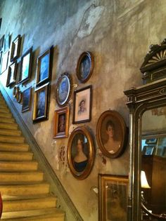 Stairway and photographs