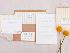 Atlanta Custom Wedding Invitations at Paper Daisies Stationery